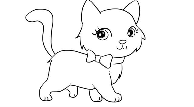 6种花样简笔画小猫的方法!