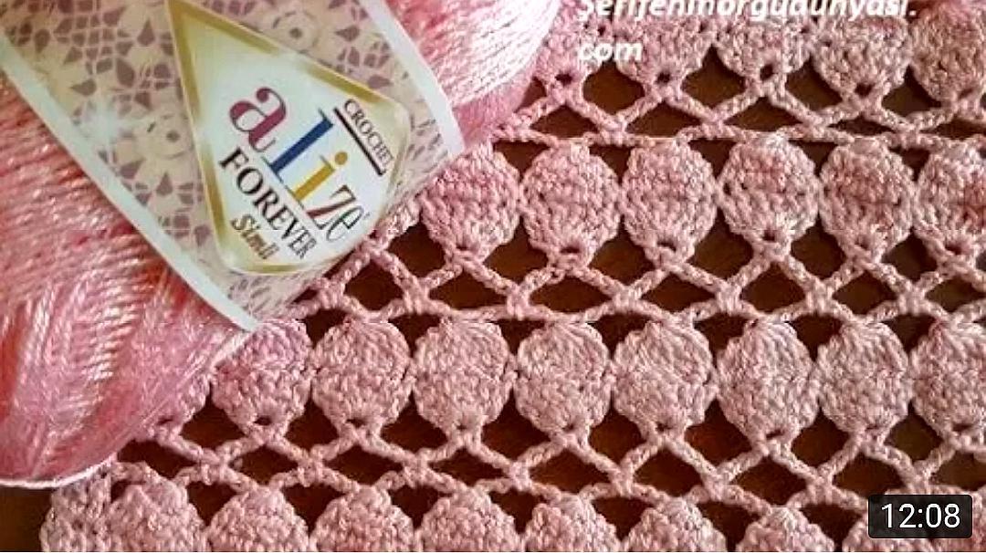 钩针编织镂空花样教程,简单易学,会编织的你一看就会了