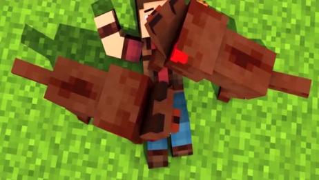 我的世界:MC动画之动物农场竟然想要攻击猎人