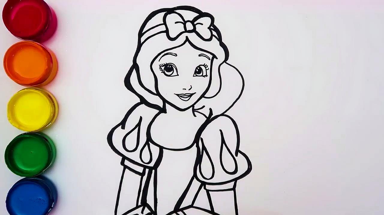 简易画教你怎么画白雪公主!