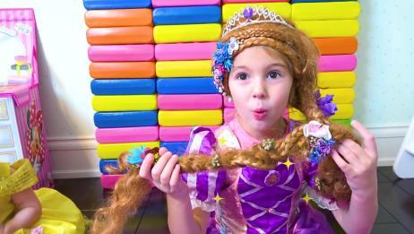 小朋友被打扮成漂亮的小公主啦