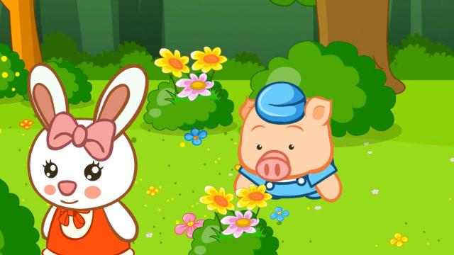 嘟拉动物故事 小猪捡钱包