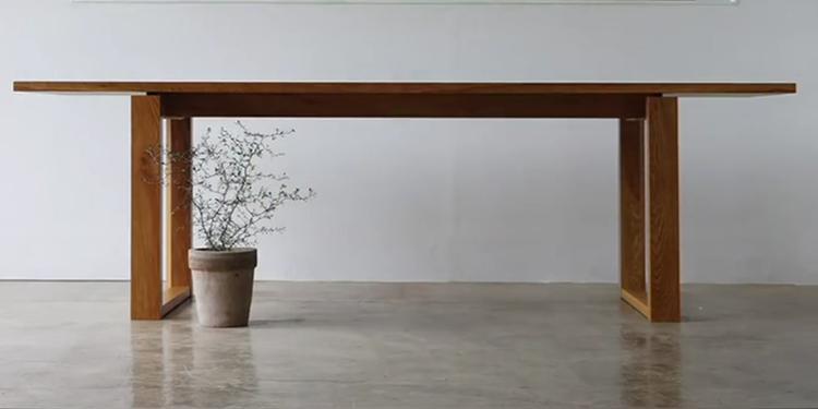 简约风格白橡木实木餐桌从画图到完工制作全过程