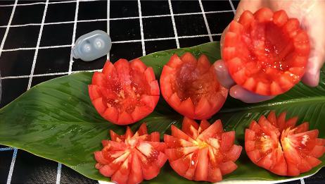 西红柿这样做太好吃了!不炒不拌!上桌就抢光光!