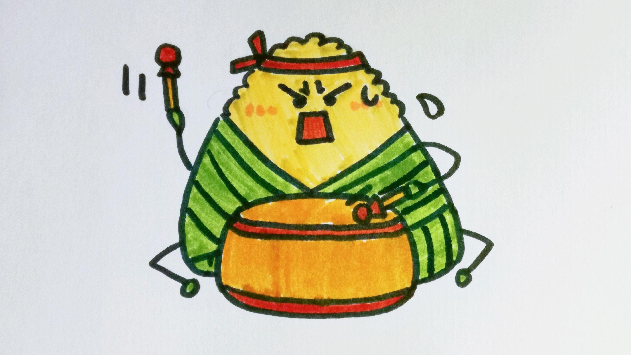 粽子简笔画怎么画