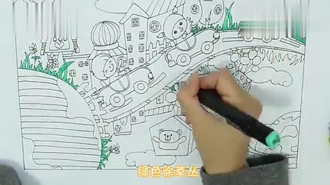 小学生科幻画怎么画图片