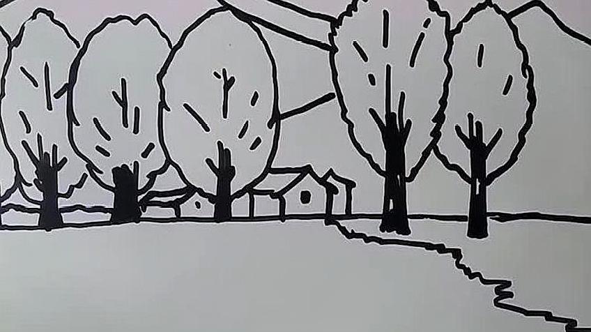 01:53  来源:好看视频-秋天风景简笔画,绘画的风格喜欢吗,不会的一