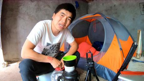 自驾夫妻在野外小屋住了8天,断水断电是怎么生活的?