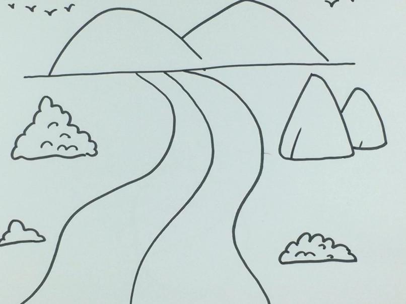 给河流主题画取名字 保护河流湖泊的手抄报