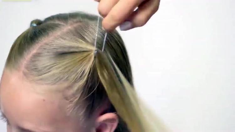 上班简洁干练发型设计03:01网易视频 宝妈儿童发型,双马尾这样扎