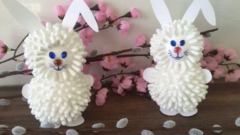 手工diy迷你玩具,儿童手工制作大全,自制可爱的复活节兔子!