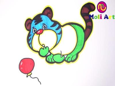 简笔画:可爱的小老虎,其实没有看起来这么复杂,很简单  03:09  好看