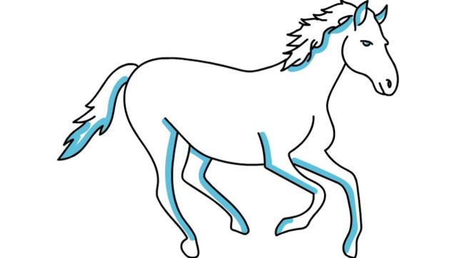 马的最简单画法步骤