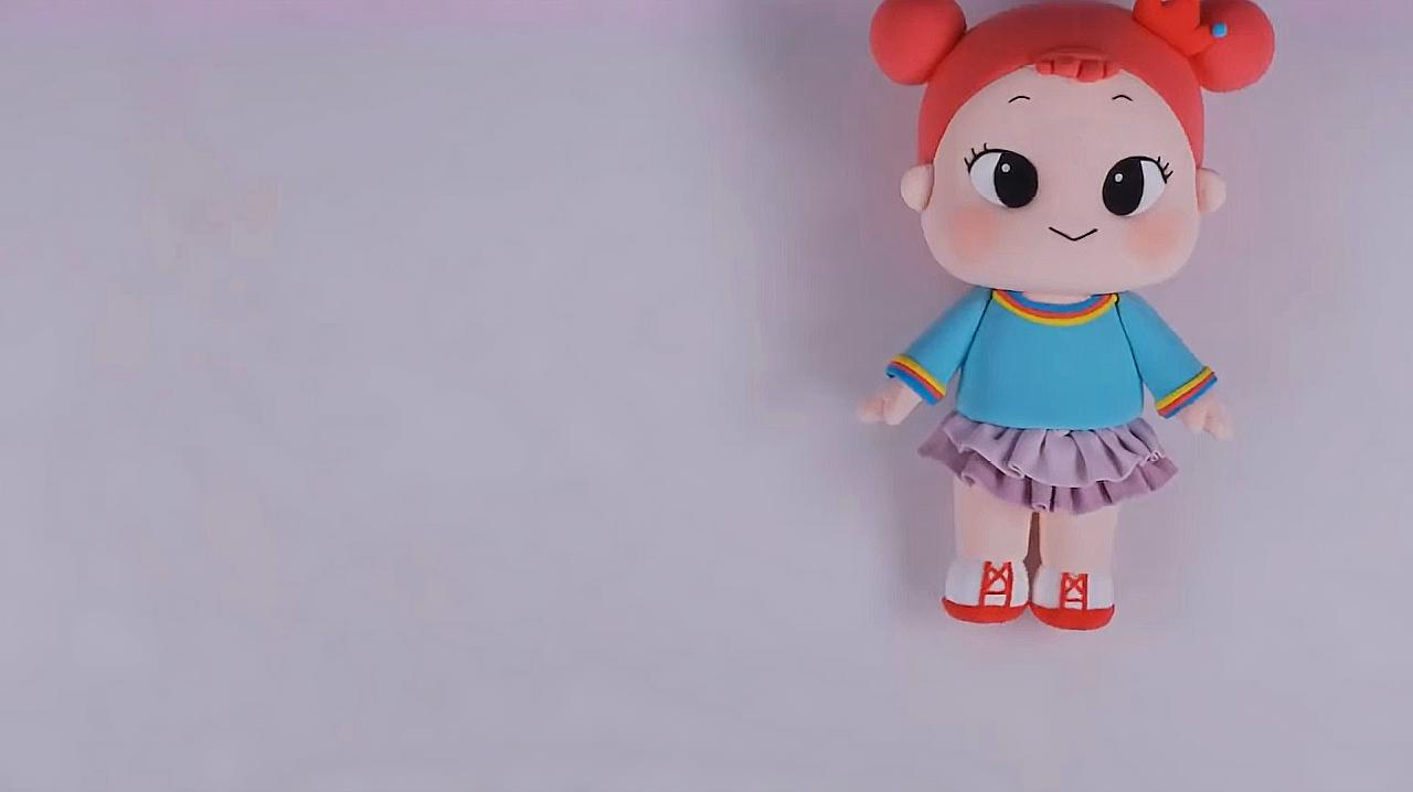 教你制作可爱的小女孩粘土,简单又漂亮!