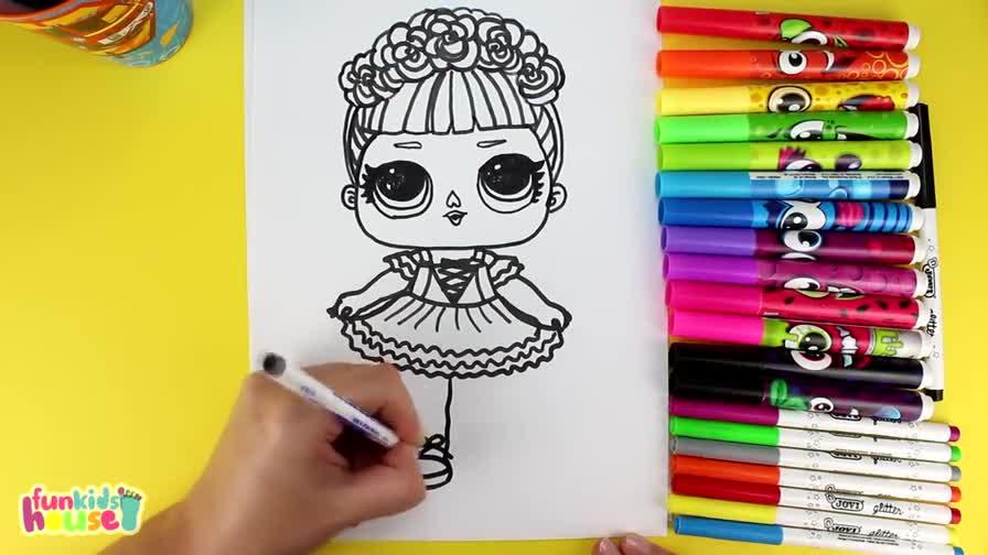 簡筆畫 繪畫小公主 芭比娃娃