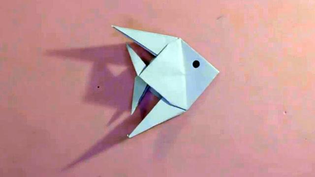 03:22  来源:爱奇艺-儿童手工折纸小动物:简单又漂亮立体小鱼的折法