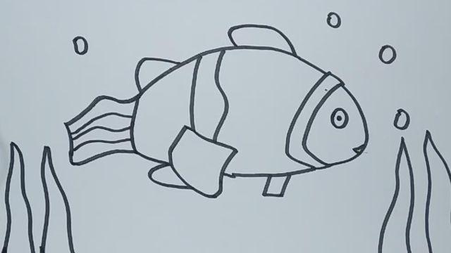 小丑鱼简笔画怎么画