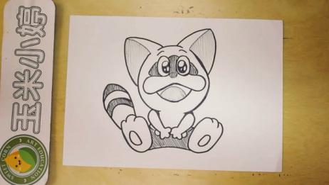 手绘简笔画少儿动画《叮当猫》, 还记得美琪家的叮当猫