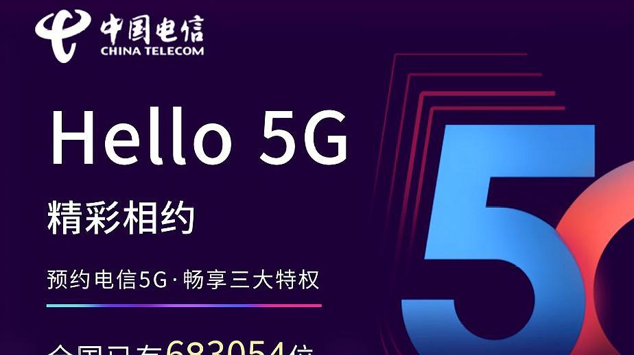 中国电信开启5G套餐预约,老用户可享受7折套餐优惠