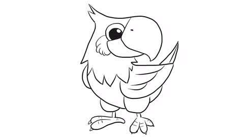 小林简笔画 :鹦鹉儿童亲子简笔画