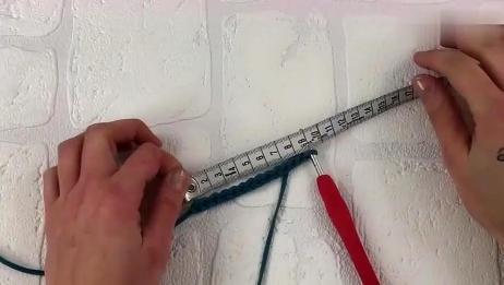 钩针编织时尚手提袋,手工钩织手提包全过程,详细步骤钩法