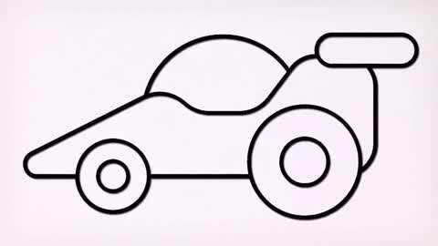 儿童宝宝学画画:简笔绘画赛车!