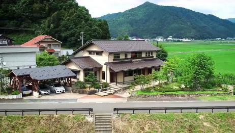 日本一家四口的农村生活,木屋田野和森林,太美了