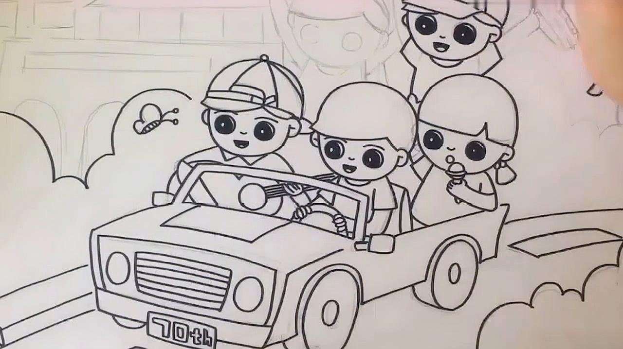 儿童画手绘:我爱祖国绘画作品,爱画画的小朋友们快来看看!