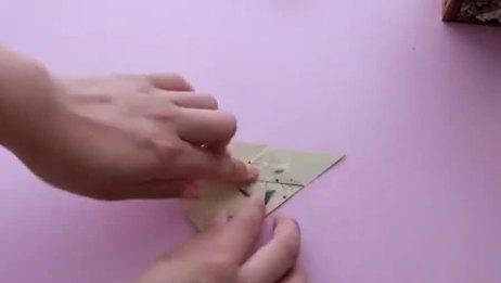 萌萌的折纸立体冰淇淋,看一遍就能学会,太简单了!