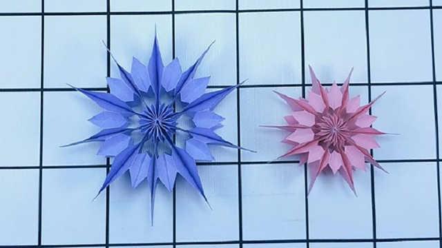 折纸教程,手工制作漂亮的圣诞星!