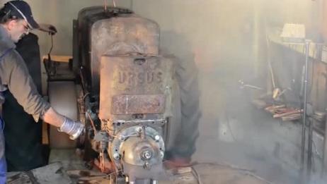 科技大探秘:国外大爷修复一台报废的拖拉机