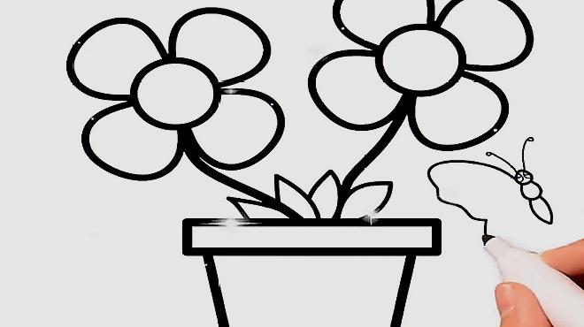 花盆简笔画怎么画?