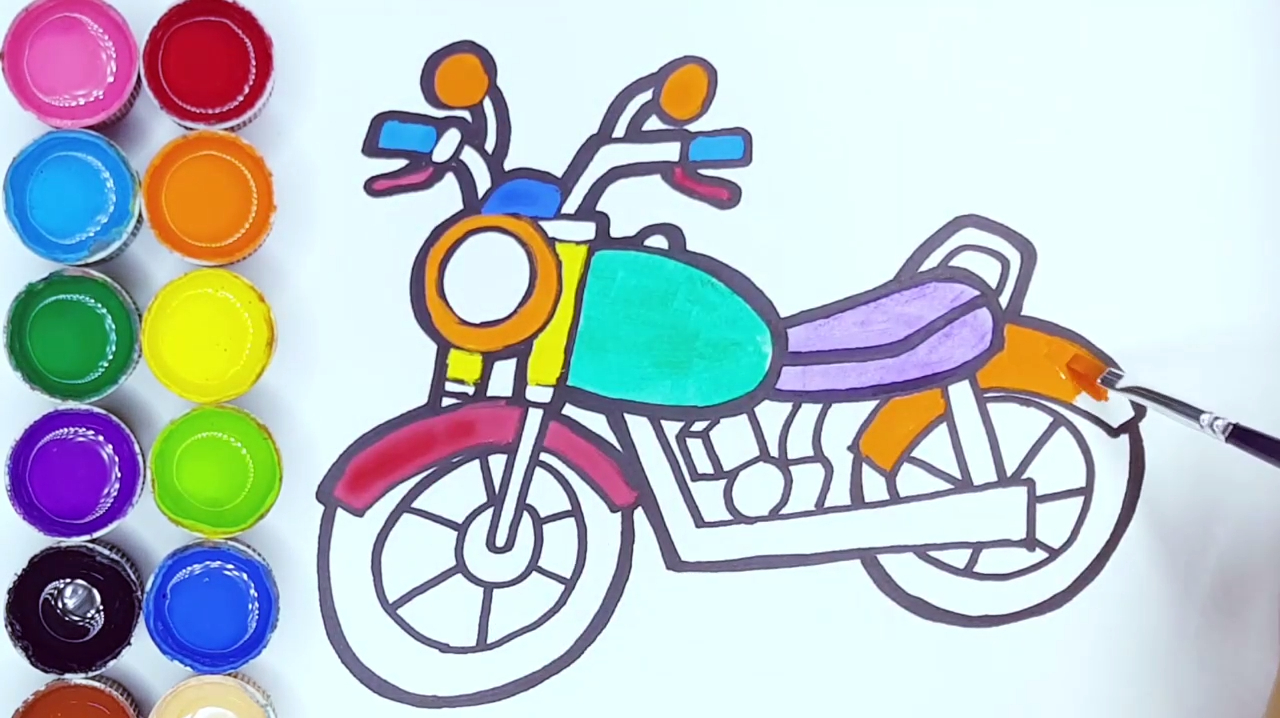 简易画教你怎么画摩托车!