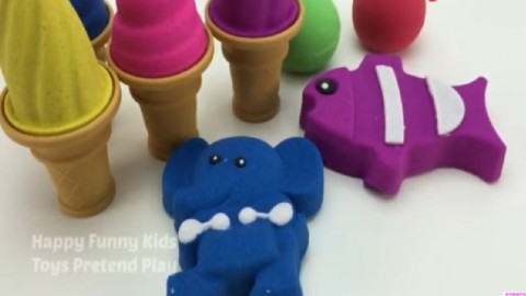 橡皮泥手工制作 用彩泥做冰淇淋 儿童黏土锻炼动手能力玩具