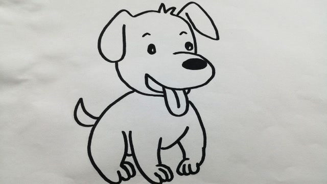 可爱的动物简笔画