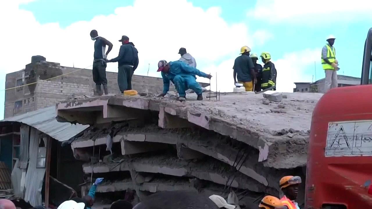 肯尼亚6层楼房倒塌,5人死亡