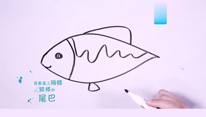 图老师1分钟开心简笔画:激浪鱼笔画 零基础简笔画入门