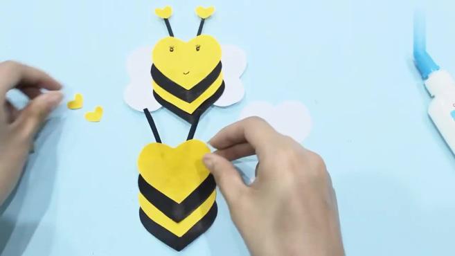 儿童手工制作大全 小蜜蜂手工制作 创意折纸小蜜蜂