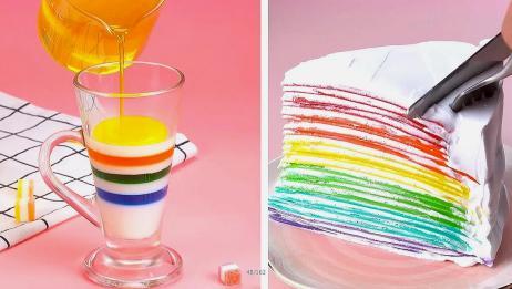 简单的蛋糕装饰教程每天_如此美味的彩色蛋糕教程