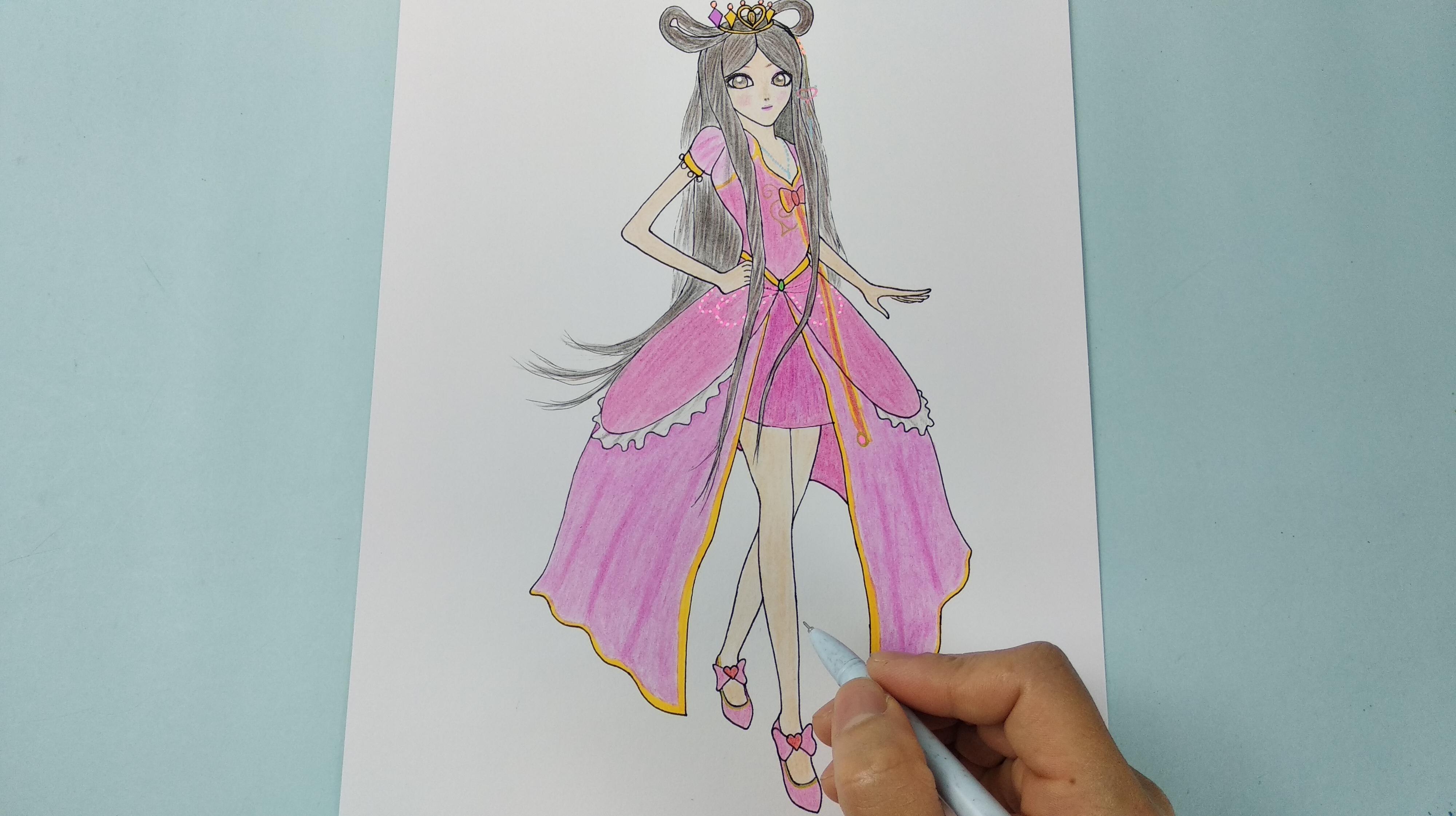 精灵梦叶罗丽简笔画怎么画图片