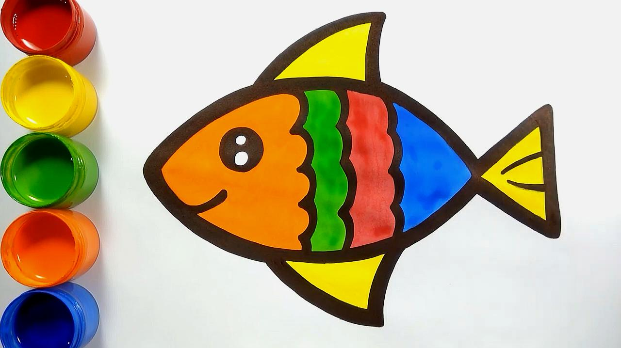 03:05  来源:好看视频-儿童绘画之简笔画小鱼 4画小鱼教程:首先画出