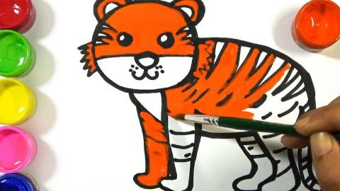 儿童趣味简笔画,画出一只可爱的小老虎
