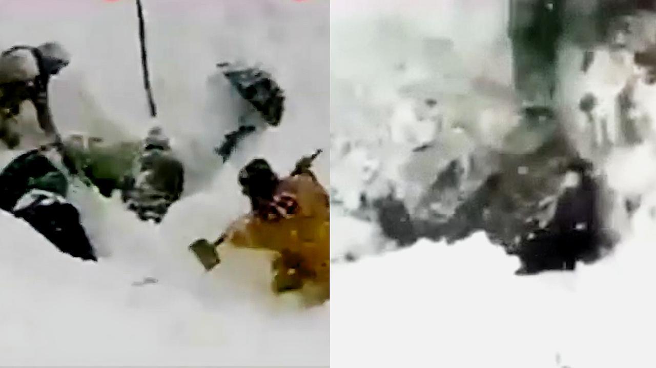 克什米尔地区发生多次雪崩已致67人死亡 民众徒手从积雪中挖人