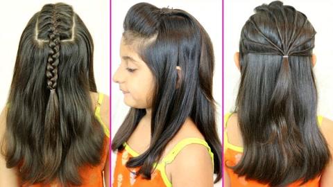 02:36好看大全简单的小女孩半扎发辫子编发,尽显女生a大全可人,可视频三股宝宝发型发型图片