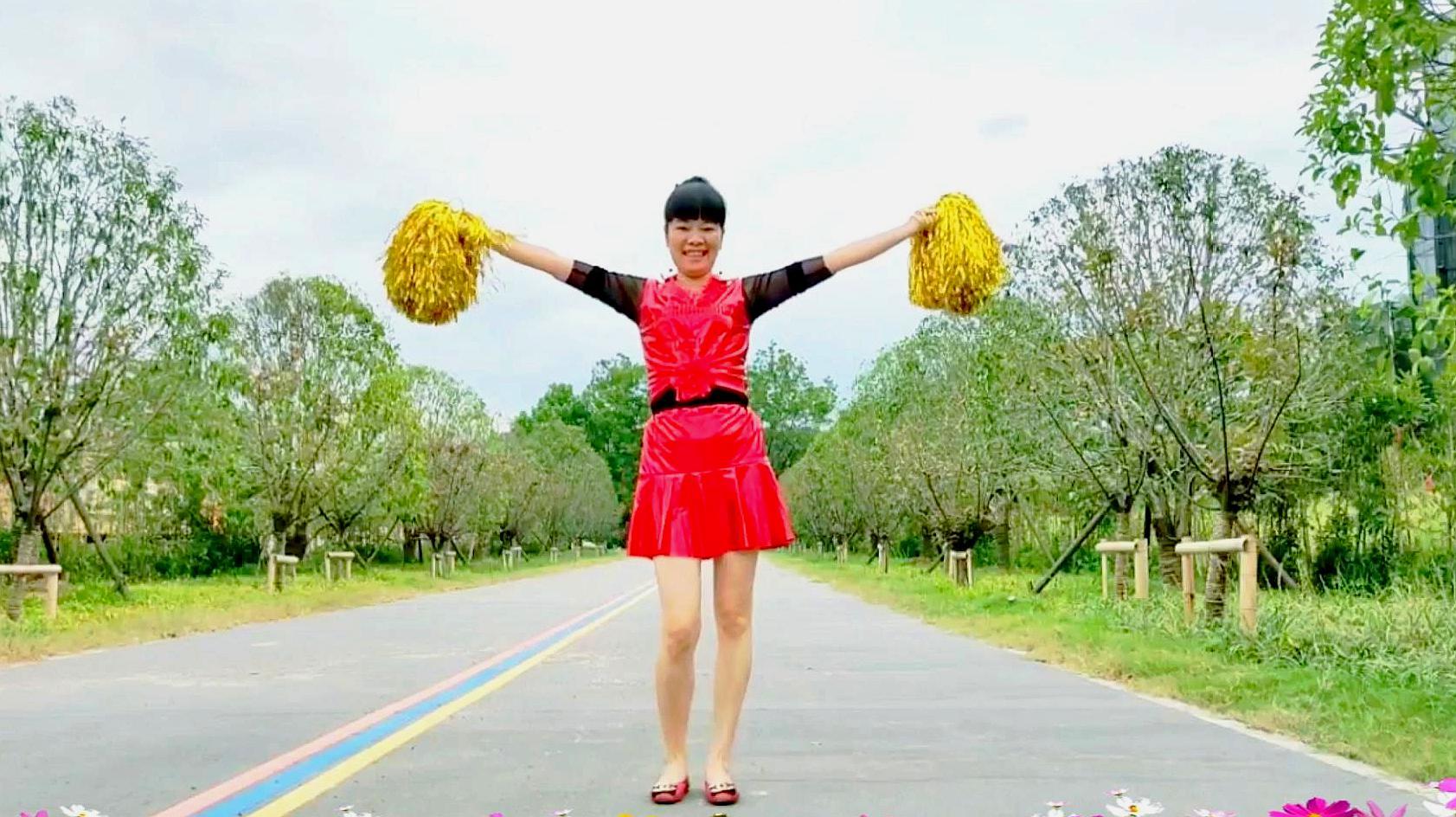 花球广场舞《中国范儿》简单欢快 喜庆热闹