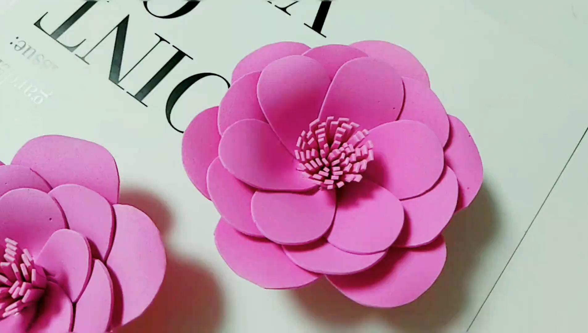 海绵纸怎么做花朵?