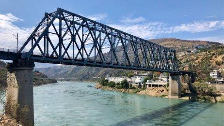 成昆线三大钢桁梁桥(1): 金沙江桥 (单线主跨192米)