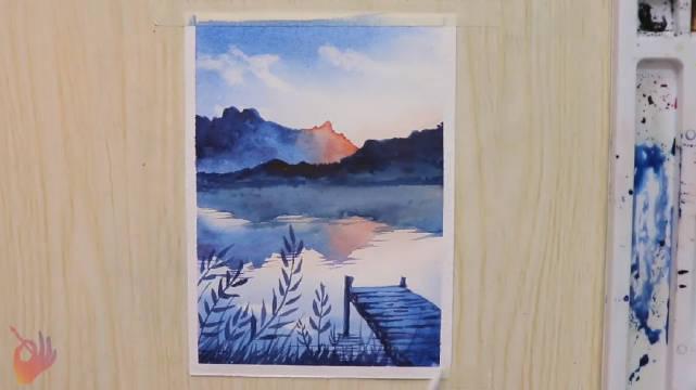怎么用水彩画风景画