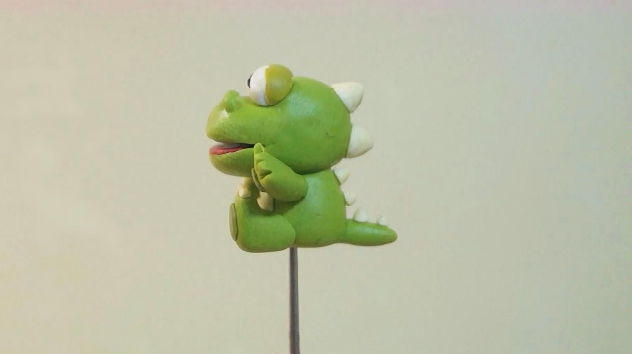 粘土软陶手工:diy创意手工制作简单可爱的小鳄鱼