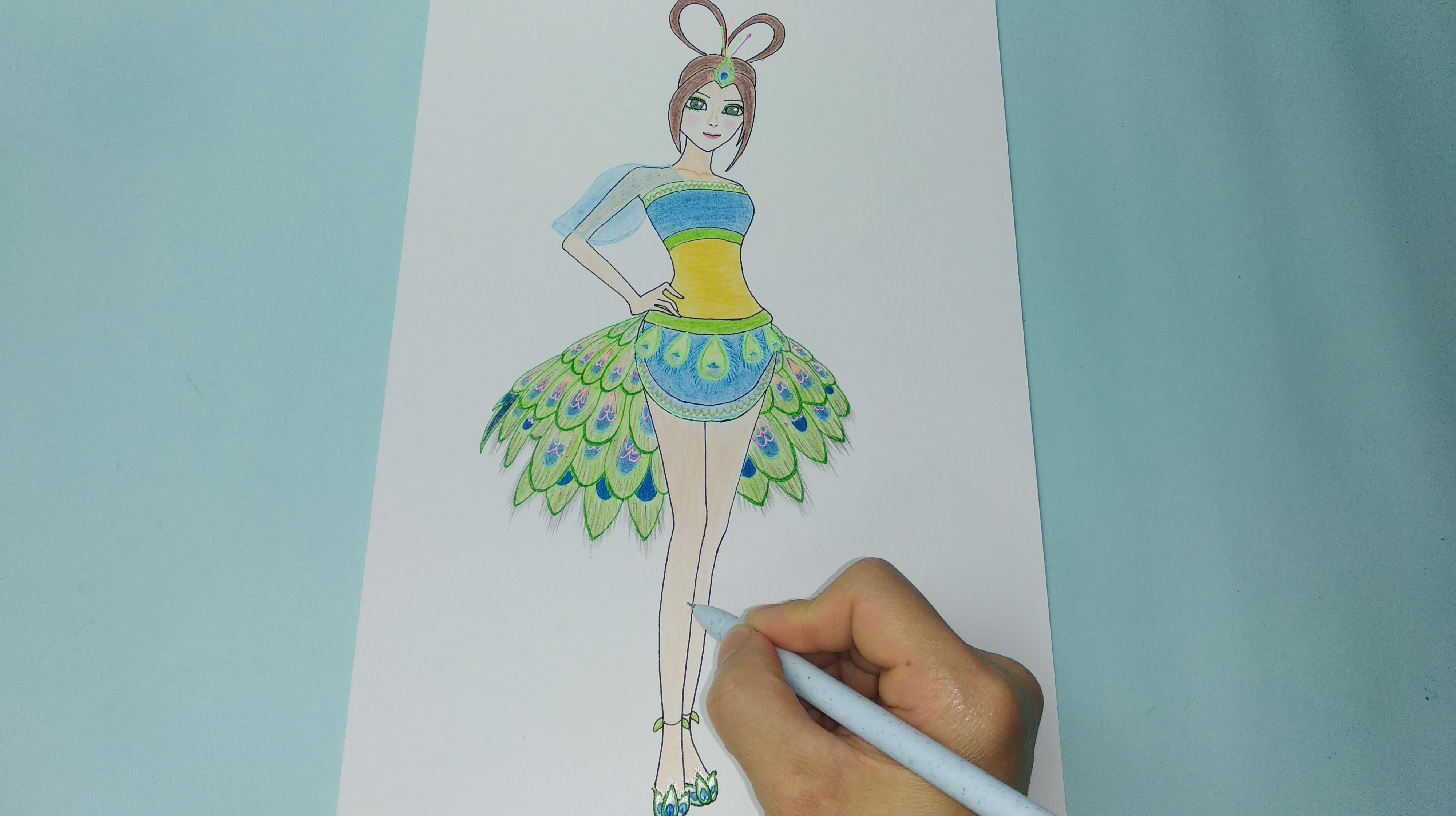 叶罗丽仙子简笔画怎么画图片